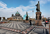 Schinkelplatz, Berlin Cathedral, Television Tower, Berlin center, Berlin, Germany, Europe
