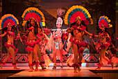 Colorful costumes at folklore and samba dance show at Variete Plataforma 1, Rio de Janeiro, Rio de Janeiro, Brazil, South America