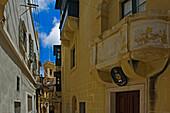 Narrow street in old town, Victoria, Gozo Island, Malta