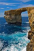 Azure Window rock structure, Dwejra Bay, Gozo Island, Malta