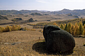 Landscape with rock, Ulan Bator, Mongolia