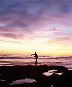 Man fishing, Oura, The Algarve, Portugal
