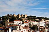View of Castelo de Sao Jorge, Alfama district, Castelo Sao Jorge, Lisbon, Portugal