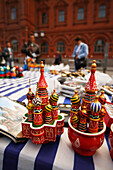 Russian souvenier stalls around Red Square, Moscow