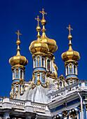 Palace of Katharina domes, Pushkin, Russia