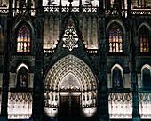 Barcelona Cathedral at night, Gothic quarter, Barcelona, Spain