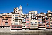 Building exteriors of Gerona, Costa Brava, Catalonia, Spain