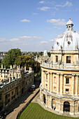 Elevated view of Radcliffe Camera, Oxford, England