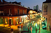 Night time on Bourbon Street, New Orleans, Louisiana, United States of America