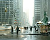 Pedestrians on Avenue of the Americas, New York City, New York, USA