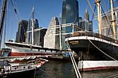 South Street Seaport and Lower Manhattan, New York City, USA