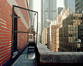View from Manhattan rooftop, New York City, New York State, USA