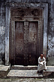 Heavy wooden traditional doors, Zanzibar Island, Tanzania