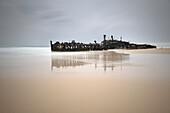 Gestrandetes Maheno Schiffswrack, Strand, Fraser Island, Süd Pazifik, Queensland, Australien