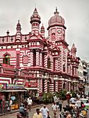 Jami Ul Alfar Mosque in Colombo's oldest district, Pettah, capital Colombo, Sri Lanka