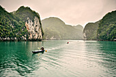 kayak tour Ha Long Bay, Gulf of Tonkin, Vietnam