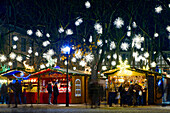 Christmas market with Christmas decorations, Basel, Switzerland