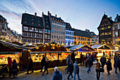 Christmas market and historic quarter, Strasbourg, Alsace, France