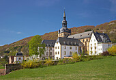 Benedictine Abbey and church St. Mauritius in the sunlight, Tholey, Saarland, Germany, Europe