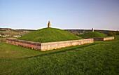 Gallo roman monumental tomb, 2nd century A.D., Wadern-Oberloestern, Nature reserve park Saar-Hunsrueck, Hochwald, Saarland, Germany, Europe