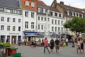 St. Johann Marketplace with fountain, Saarbruecken, Saarland, Germany, Europe