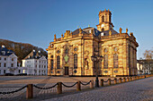 Baroque ensemble of St. Louis' Church and St. Louis' Square in the morning, Alt Saarbrücken, Saarbrücken, Saarland, Germany, Europe