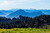 View from Kampenwand, Chiemgau, Upper Bavaria, Germany