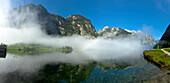 View from Sallet over lake Koenigssee, Berchtesgadener Land, Upper Bavaria, Germany