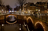 Seven Bridges, the convergence of the Keizersgracht and Reguliersgracht canals, Amsterdam, Netherlands