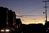 Streets of San Francisco at nightfall, San Francisco, California, USA