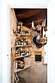 Kitchen furnished in country style, Kitchen utensils, Hamburg, Germany
