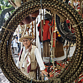 Gaucho with traditional clothes, Antique market, Plaza Dorrego, San Telmo, Buenos Aires, Argentina