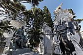 Grace monuments at La Recoleta Cemetery, Maria Eva Duarte de Peron, Buenos Aires, Argentina