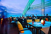 Centara Grand Hotel al Central World Bangkok Tower  Bar Red Sky, an unforgetable outdoor roof top venue with impressive views across the city skyline  Pathumwan district  Bangkok  Thailand