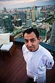 Sandro Aguilera, chef of the Fifty Five restaurant in the Centara Grand Hotel al Central World Bangkok Tower  Pathumwan district  Bangkok  Thailand