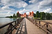 Lithuania, Trakai, Trakai Historical National Park, Island Castle on Lake Galve