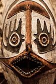 France, Paris, Musee du Quai Branly museum, Aboriginal Mask, Torres Strait area, Australia, 19th century