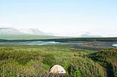 Alaska, Katmai National Park and Preserve, McNeil River Bear Viewing and Wildlife Sanctuary, camp
