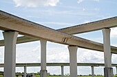 Florida, Fort Ft  Lauderdale, Sunrise, Interstate 75, I-75, raised highway, concrete trestle, span