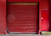 Red Loading Bay Door, New York, NY, USA