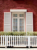 Brick Home and White Picket Fence, New York, NY, USA