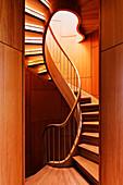 Abstract Spiral Staircase, Dallas, Texas, USA