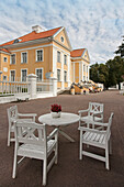 Outdoor Table and Chairs at Palmse Manor, Estonia