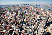 Aerial View of Manhattan, New York, NY, USA