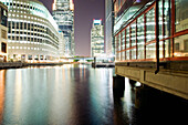 Canary Wharf at Night, London, U.K.