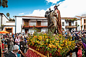 Palm Sunday procession, Church,  Teror, Gran Canaria, Canary Islands, Spain