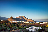 View of Yaiza, Lanzarote, Canary Islands, Spain, Europe