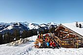 Mountain hut, Pengelstein ski region, Kirchberg, Kitzbuhel, Tyrol, Austria