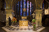 Altar in Aachen Cathedral, UNESCO World Heritage Site, Aachen, North Rhine Westphalia, Germany