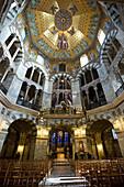 Carolingian octagon, Aachen Cathedral, UNESCO World Heritage Site, Aachen, North Rhine Westphalia, Germany